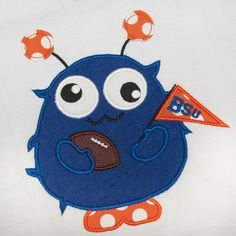 Hang to Dry - Football Monster Applique