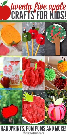 Amazing Apple Crafts for Kids by A Night Owl Blog #backtoschool #kidscrafts #august