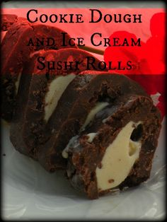 Ice Cream and Cookie Dough Sushi Rolls - Short And Sweet Moments
