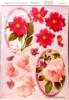 Die-cut Decoupage - Pretty Petals Collection 'Rose & Dahlia' Great Deals and Ideas at www.die-cut-machines.com