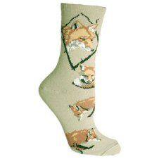 Fox Socks In Stone UK Size 3.5 to 6.5