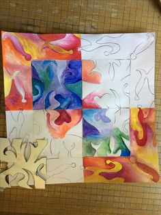 ideas for cool art projects drawing color theory Middle School Art Projects, 7th Grade Art, Atelier D Art, School Painting, Art Curriculum, Art Lessons Elementary, High Art, Art Lesson Plans, Art Classroom