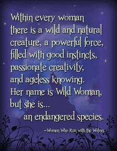 Let the wild women make a comeback!