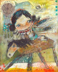 An Amazing Journey. By Juliette Crane. Online courses at: Http://juliettecrane.com #mixedmedia #juliettecrane