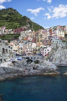 MANAROLA, ITALY As the second smallest town in the famous Cinque Terre (five villages connected by a walking path), this northern Italian destination is a popular spot for tourists. It's also a fishing village full of colorful buildings and some of the best deep-water swimming around.