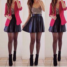 Longer skirt, different shoes.
