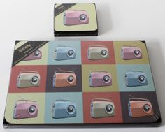4 Table Mats And Coasters Retro Radio Vintage Style