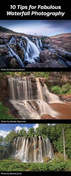 10 Tips for Fabulous Waterfall Photography a guide to better landscape photography involving waterfalls Photos photographer tutorial how to gear tripod polarizer waders. Best Landscape Photography, Landscape Photography Tips, Photography Basics, Photography Lessons, Photography Camera, Outdoor Photography, Photography Backdrops, Photography Tutorials, Landscape Photos