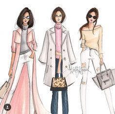 @hnicholsillustration/ hnillustration.etsy.com| Be Inspirational ❥|Mz. Manerz: Being well dressed is a beautiful form of confidence, happiness & politeness
