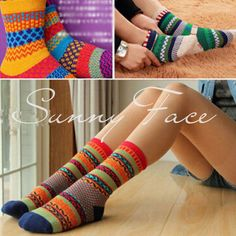 Korean Ladies Retro Ankle Socks Cotton Socks Cute Striped High Socks 1Pair #UNBrand #RetroStripedAnkleSocks