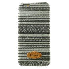 Javu - iPhone 6 Hoesje - Back Case Hard Canvas Tribal Grijs   Shop4Hoesjes