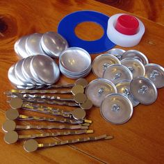 DIY Bobby Pins | DIY Bobby Pin Covered Buttons Kit - by merrigumlane on Craftumi