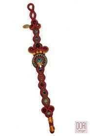 Phoenix unique thin earth tones bracelet by Dori Csengeri