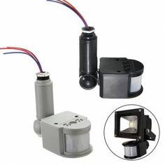 Outdoor Wall Light Lamp LED PIR Infrared Motion RF Sensor Detector AC85V~260V Sale-Banggood.com