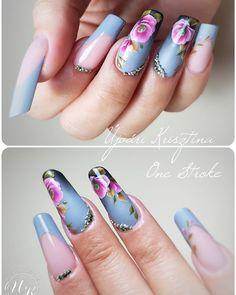 Regrann from @ujvari_krisztina - #nail#nails#nailart#nailarts#naildecor#naildecoration#naildesign#naildesigner#onestroke#onestrokenailart#nailpaint#ujvarikrisztina#nailinstagram - #regrann