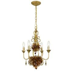 (CLICK IMAGE TWICE FOR UPDATED PRICING AND INFO) #home #ceiling #homeimprovement #homedecor #lighting  #lights #lightandfixture #chandeliers see more chandeliers at http://www.zbrands.com/Chandeliers-C35.aspx -Crystorama Chandeliers - Fiore 4 Light Chandelier