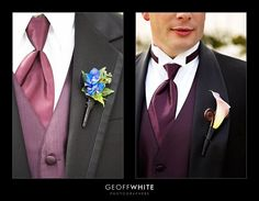 Substitute Purple Vest and Tie for Wine (Burgundy) Vest and Tie