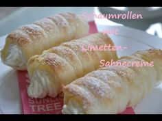 (Cream Roll) is a pastry which is made most likely in Eid time after Ramadan, or at any afghan events etc. Cream Filling Recipe, Cream Puff Recipe, Puff Pastry Desserts, Pastry Recipes, Kinds Of Desserts, Easy Desserts, Elegante Desserts, Pepperidge Farm Puff Pastry, Cooking Tv