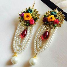 Jewellery Gota Patti Jewellery, Thread Jewellery, Tassel Jewelry, Wedding Jewelry, Custom Jewelry, Handmade Jewelry, Handmade Rakhi, Rakhi Design, Latest Mehndi Designs