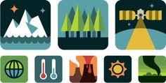 is it too gimmick-y to use these? (NASA Climate Science Icons)