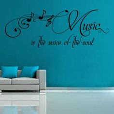 Wandtattoo Music Is The Voice East Urban Home Farbe: Brillantblau, Größe: Groß quotes classroom quotes decals quotes decals kitchen quotes decals office Mirror Wall Stickers, Butterfly Wall Stickers, Wall Decals, Prayer Wall, World Map Decal, Love Wall, Room Wall Decor, Wall Quotes, Urban