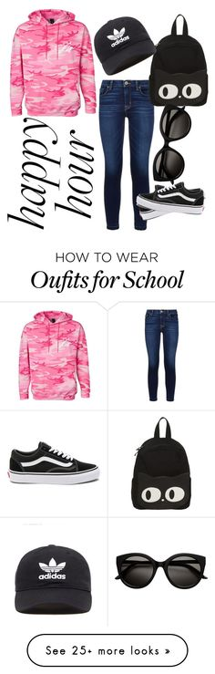 """Happy Hour"" by hattieeve on Polyvore featuring Hudson, adidas Originals and Vans"
