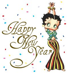 Betty Boop Was Created When | happy new year with confetti and betty boop source created