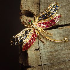 Dragon Fly Wings Brooch 5368 by Craft365com on Etsy