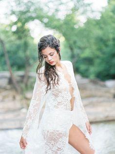 Serene Creekside Boudoir Session | Wedding Sparrow | Amanda Berube Photography