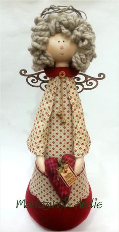 Christmas Angels, Christmas Art, Christmas Holidays, Christmas Decorations, Christmas Ornaments, Holiday Decor, Craft Stalls, Fabric Brooch, Angel Crafts