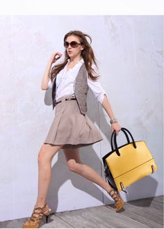 2016 Fashion Brand 100% Genuine Leather Women Handbags Vintage Female Panelled Portable Bags Brief Colorful Tote Bag > Shop luxury handbag bag backpack for the world Shop luxury handbag bag backpack for the world