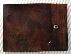 Extra Large 12x14 Refillable Leather Sketchbook  Design Your Own Sketchbook! ZenfishLeather.com