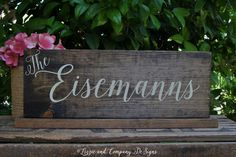 Mr Mrs Signs - WeLCoMe SiGn - SWeeTHeaRT TaBLe SiGn - Just Married Sign - WeDDiNG PhoTo PRoP - Calligraphy Sign - Rustic and Stained -17 X 6 by LizzieandCoDesigns on Etsy