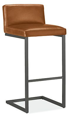 Lira Counter & Bar Stools in Leather - Counter & Bar Stools - Dining - Room & Board Leather Counter Stools, Swivel Counter Stools, Metal Bar Stools, Modern Bar Stools, Coffee Chairs, Bar Stool Chairs, Eames Chairs, Bag Chairs, Dining Room Chair Cushions