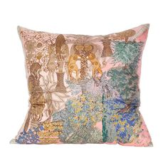 Hermès 'Les Legendes de l'Arbre' Silk Oversized Pillow and Linen Backing | From a unique collection of antique and modern pillows and throws at https://www.1stdibs.com/furniture/more-furniture-collectibles/pillows-throws/
