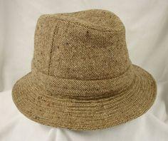 97a24fba49126 Jonathan Richard Ireland Irish Walking Hat Beige Tweed Wool Bucket 6 7 8 56