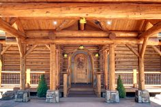RMLH - Have this be your luxurious carport and you will feel sheltered by the power of nature.  #loghome