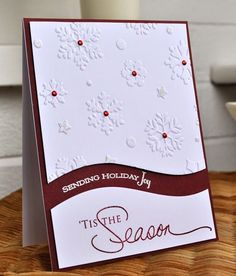 handmade Christmas card from Inky Fingers … brown and white … luv how she sp… – Christmas DIY Holiday Cards Homemade Christmas Cards, Christmas Cards To Make, Xmas Cards, Homemade Cards, Holiday Cards, Origami Christmas, Cards Diy, Gift Cards, Christmas Photo