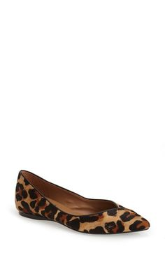 Free shipping and returns on French Sole 'Peppy' Pointy Toe Ballet Flat (Women) at Nordstrom.com. Genuine calf hair in a leopard print adds exotic appeal to a pointy toe ballet flat that features an asymmetrical detail at the vamp.