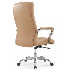 Foshan manufacturer high density foam seat armrest screw Lift brown leather manager Office Chair / leather office chairs / Chinese office chairs computer seating, leisure chairs manufacturer in Alibaba Leather Cover, Pu Leather, Brown Leather, Cheap Office Chairs, Selling Furniture, Danish Modern, Chair Design, Comfy, Lounge Chairs