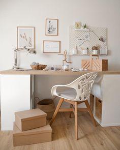 Ikea Kallax Desk, Ikea Home-office, Modern Office Design, Workspace Inspiration, Home Office Decor, Home Decor, My New Room, Room Decor Bedroom, Couch