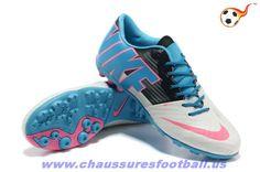 separation shoes 7d724 74cac Nike5 Bomba Finale II Blanc Bleu Noir Rose FT3875 Nouvelles Chaussures,  Chaussure De Foot,