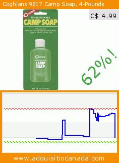 Coghlans 9617 Camp Soap, 4-Pounds (Lawn & Patio). Drop 62%! Current price C$ 4.99, the previous price was C$ 13.12. https://www.adquisitiocanada.com/coghlans/9617-camp-soap-4-pounds