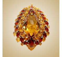 Boucheron Brooch adorned with citrines, 1940