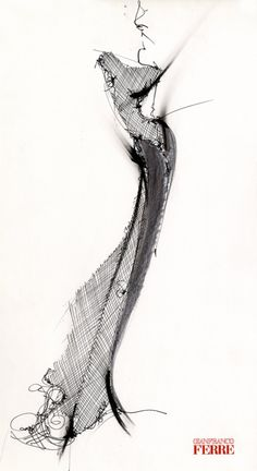 fashion illustration - Gianfranco Ferré
