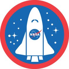 NASA Badge conmemorative badge that foursquare done when an astronaut chek-in outside in the space