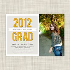 If you want a photo card -- I'm sure you could change the background color on the left to include more black....just an idea :)  Graduation Party Invitations  Graduation by inkwelldesignstudio, $18.00