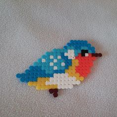 Bird hama beads by i_lavorettosi Perler Bead Designs, Perler Bead Templates, Hama Beads Design, Diy Perler Beads, Hama Beads Patterns, Perler Bead Art, Pearler Beads, Fuse Beads, Beading Patterns