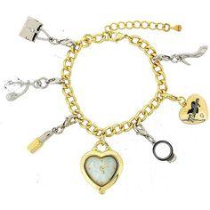 Hollywood Legends Marylin Monroe Gold Tone Charm Bracelet Fashion Watch W27/28M Marylin Monroe, Fashion Bracelets, Fashion Watches, Charmed, Pendant Necklace, Gold, Legends, Jewelry, Hollywood