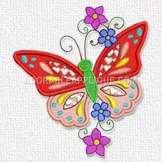 This free embroidery design is beautiful! Get this butterfly from Adorable Applique today.